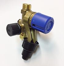 Micromat - Ventil der er placeret under varmtvandsbeholder. Med kondensat afløb