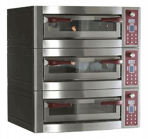 Gasbutik | OEM Pizzasystem | Energy 635/3 Tredobblet el-ovn