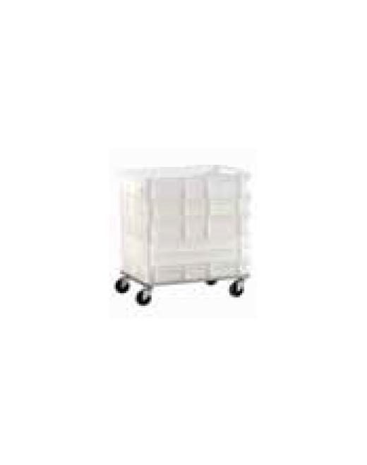 Løbevogn for plast bakker, Rustfri stål OMAZ424