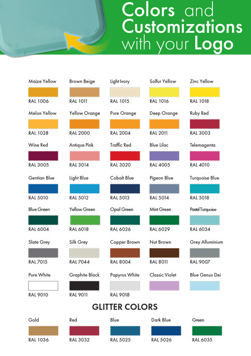Gazelco   Color Codes   Serving Trays