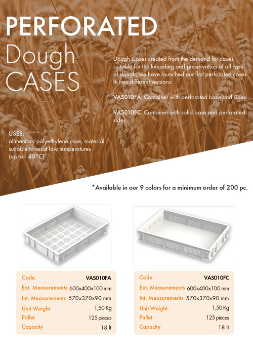 Perforated Dough Cases