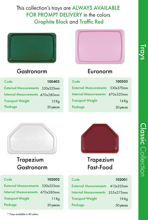 Trays 3 | sanitærer plastbakker